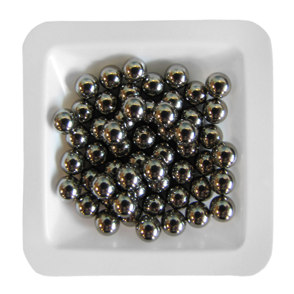 Stainless Steel Beads 4.8 mm, 1 lb. (.45 kg)